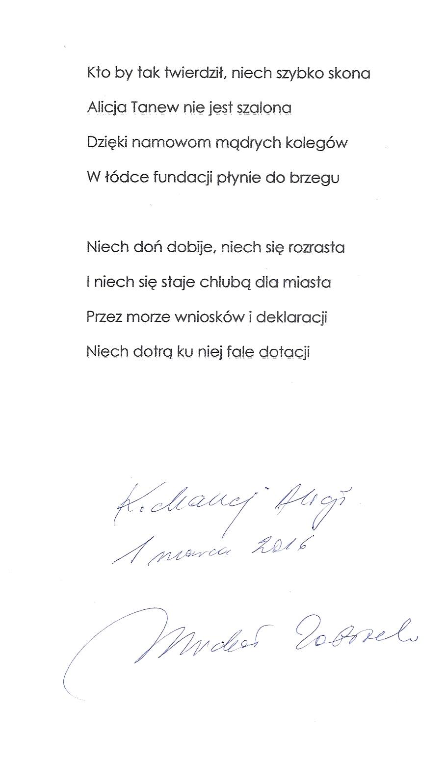 wiersz Zabłocki